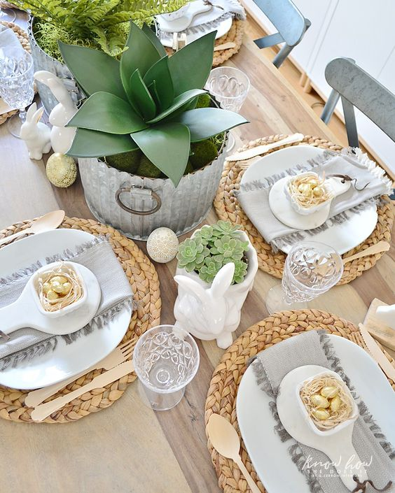 Deco Table Paques Nature