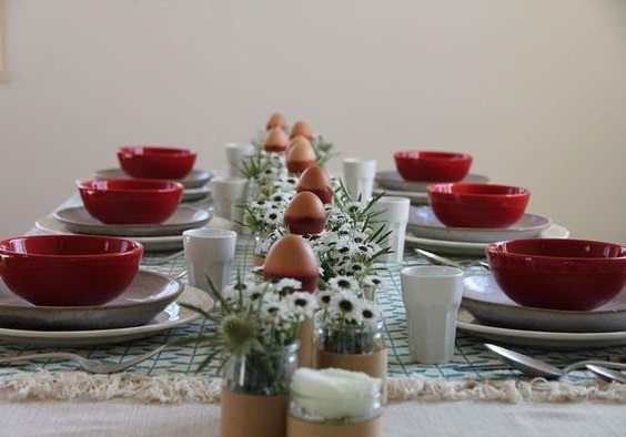 Deco Table Paques Rouge