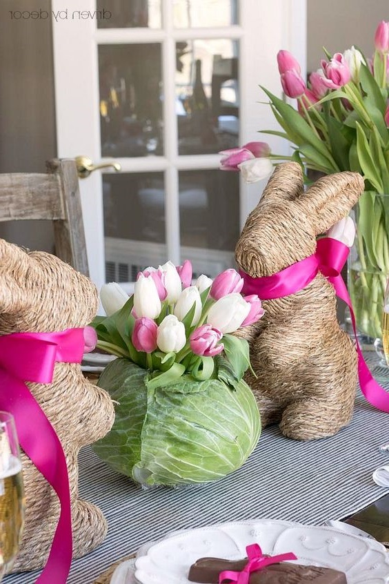 Deco Table Paques Lapin