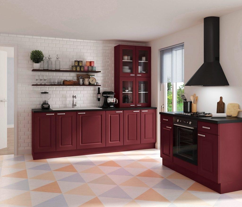 Cuisine Louise Noir Et Bordeaux