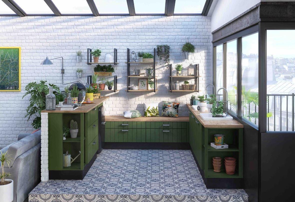 Cuisine En U Sur Plateforme Garden Soft