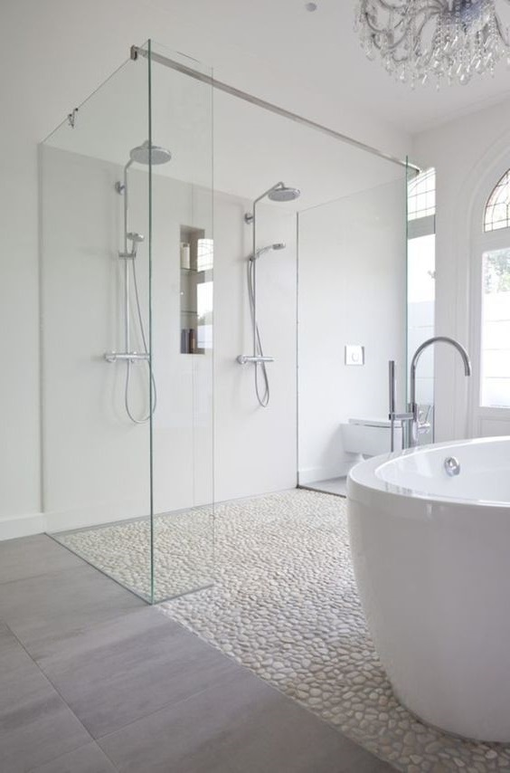 Douche Italienne Carrelage Galet