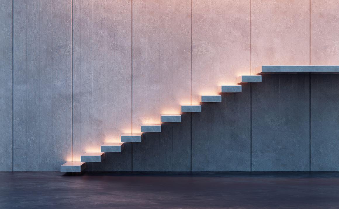 Escalier Contemporain Suspendu Materiaux Atypiques