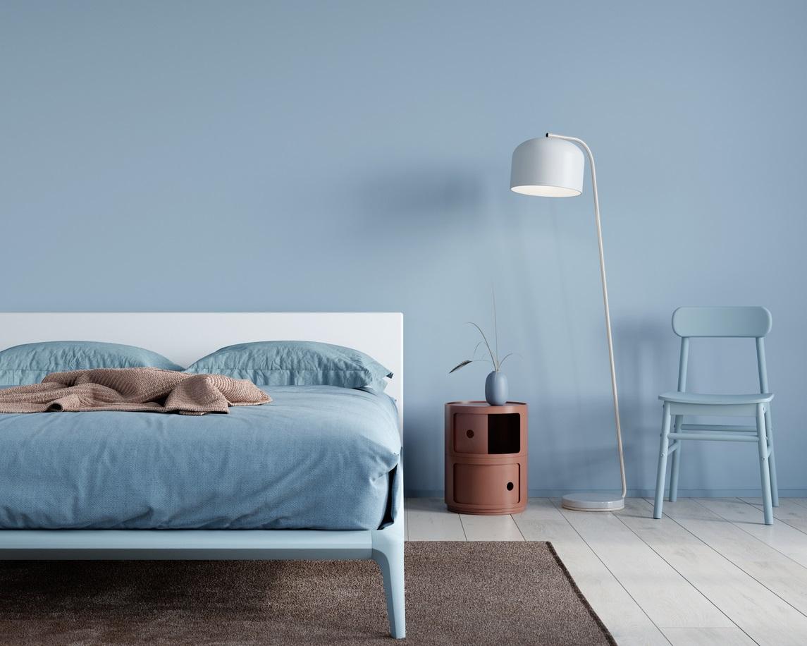 Chambre Bleue Et Grise Pour Un Style Moderne