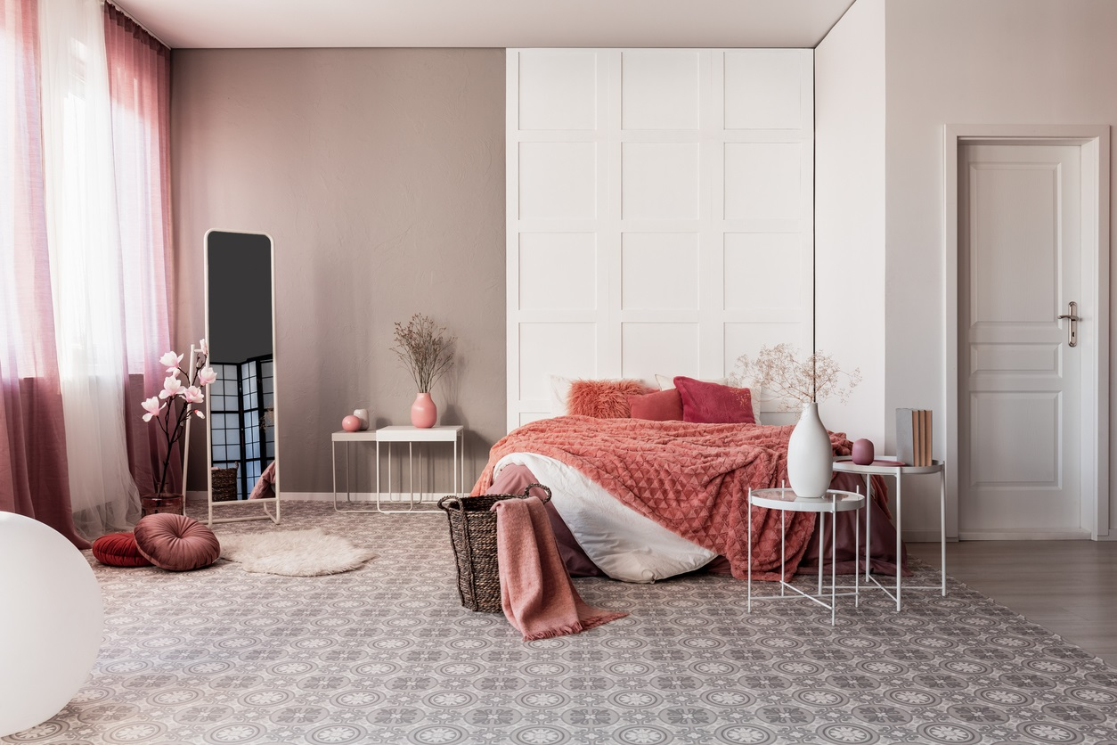 Chambre En Monochrome De Rose