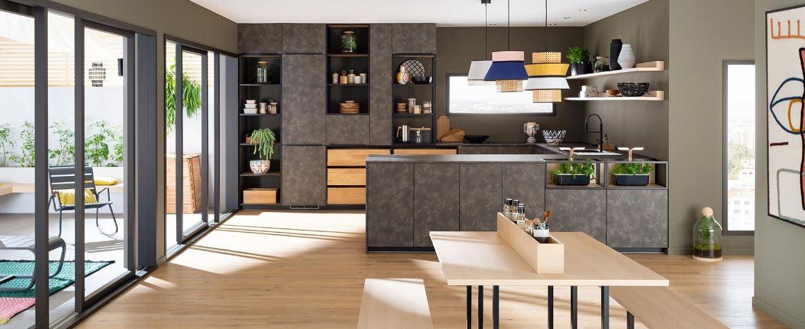 Cuisine Mobalpa, Façade Luxe Line, Plan De Travail Stratifié Futura