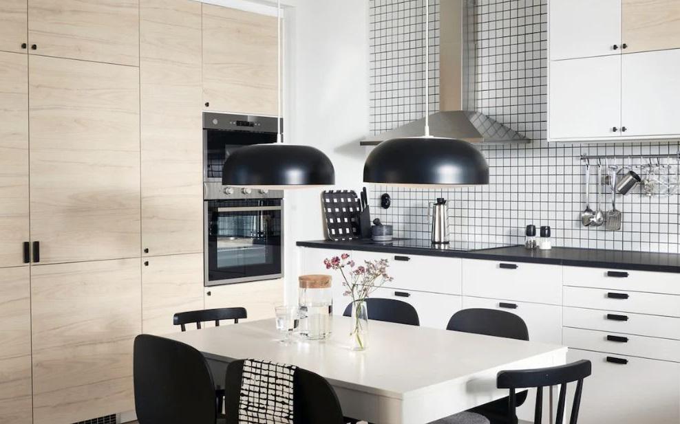 Cuisine Simple Au Look Naturel En Noir Et Blanc