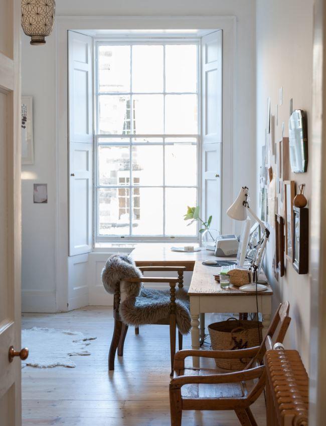 Espace De Lecture Blanc Doux, Couleur Yin Pour Favoriser La Concentration