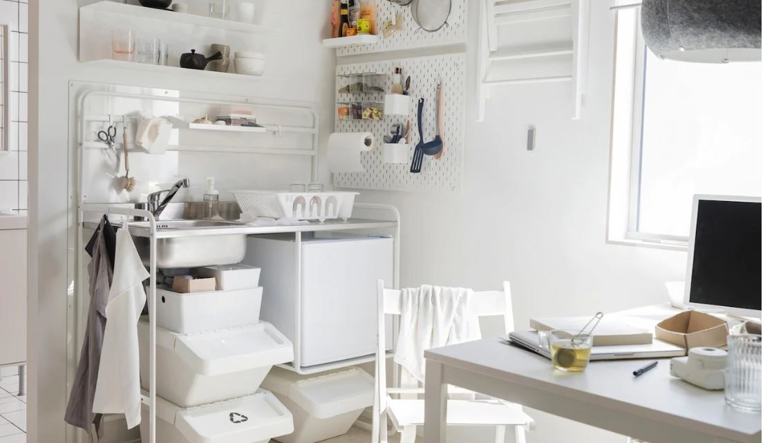 Kitchenette Ikea En Blanc