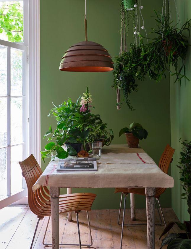 Salle à Manger De Couleur Verte Pour Un Espace Yang Stimulant