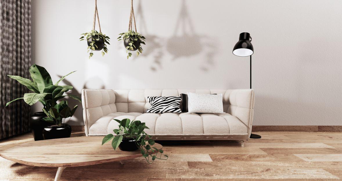 Salon Avec Canapé Feng Shui Dans Une Décoration Naturelle