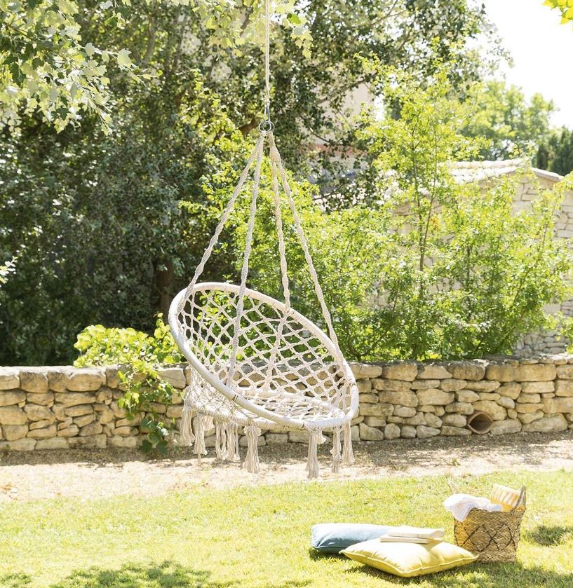 Chaise Suspendue Bambou Et Macrame Plumaya