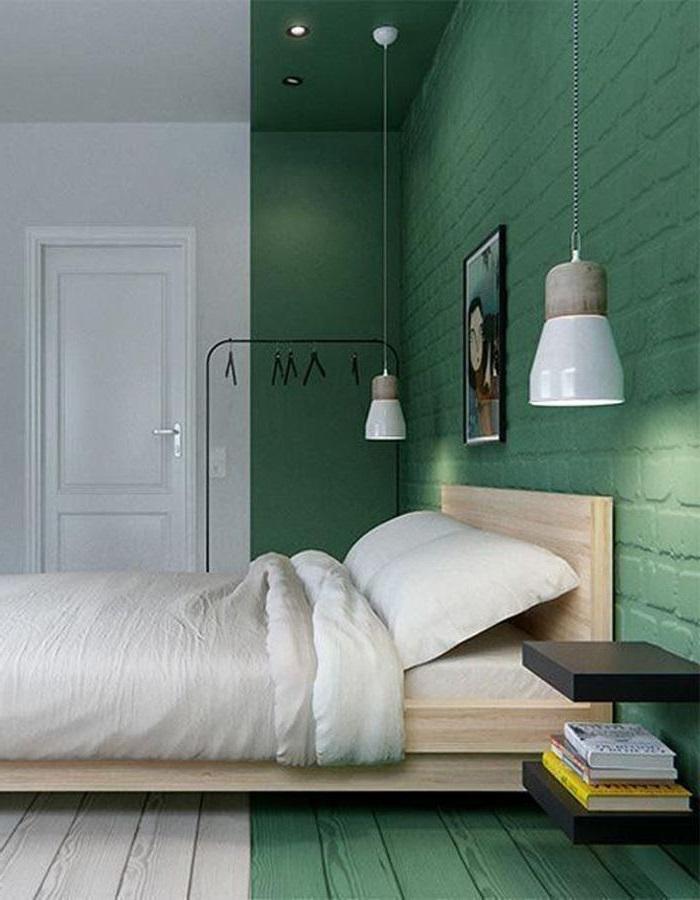 Chambre Vert Menthe Et Blanche