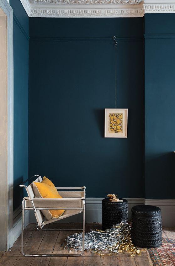 Bleu Petrole Et Jaune Moutarde