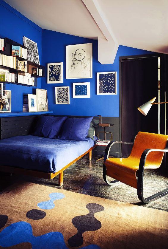 Bleu Indigo, Noir Et Bleu Majorelle