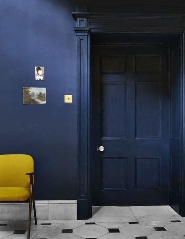 Jaune Moutarde Et Bleu Nuit