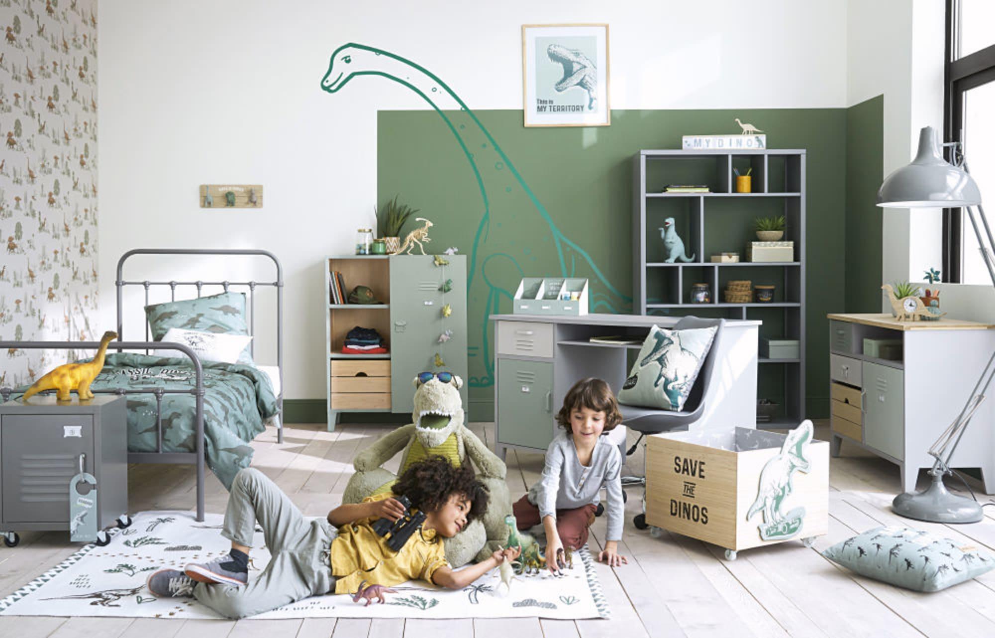 Chambre Vert Et Gris Enfant