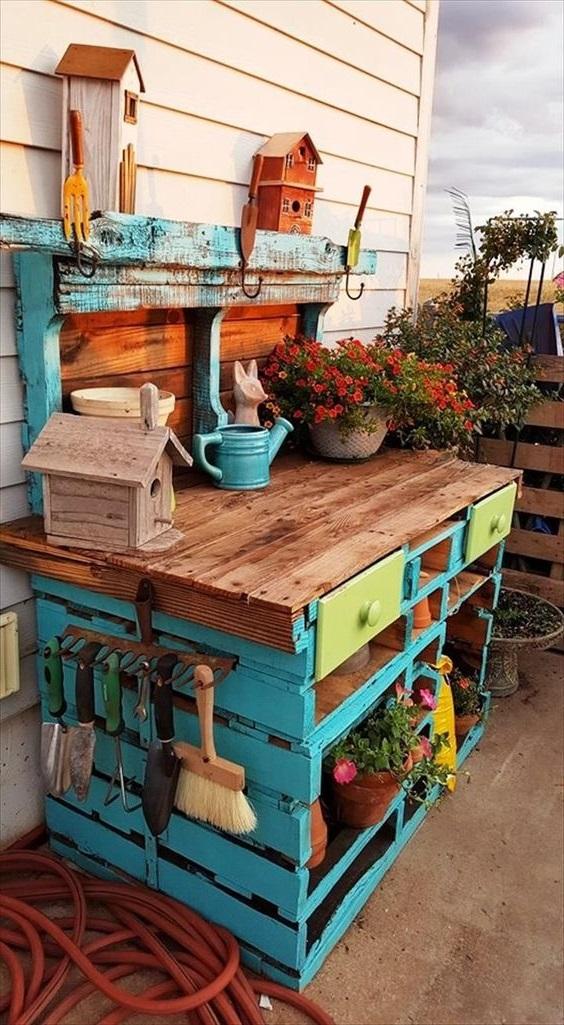 Atelier Jardinage En Palettes