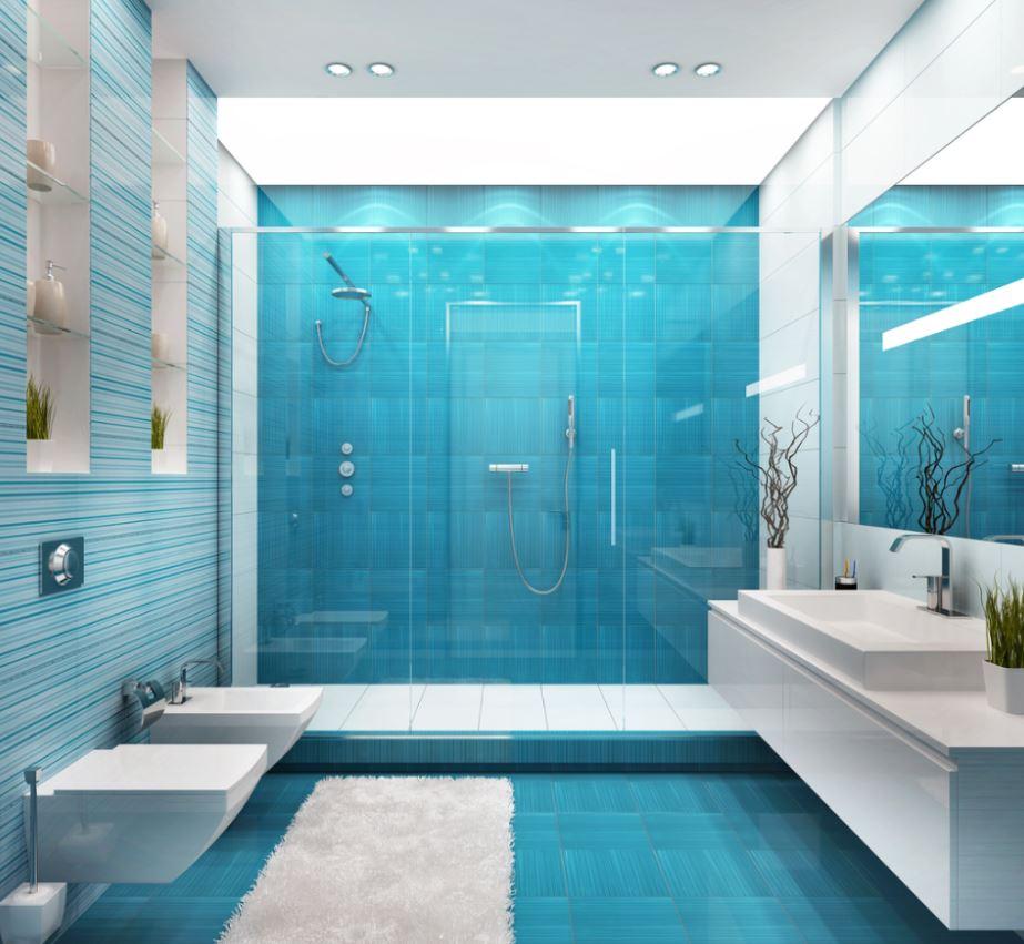 Salle De Bain Bleu Ciel