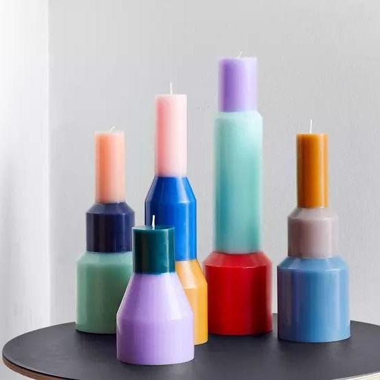 Bougie Coloree Design Scandinave