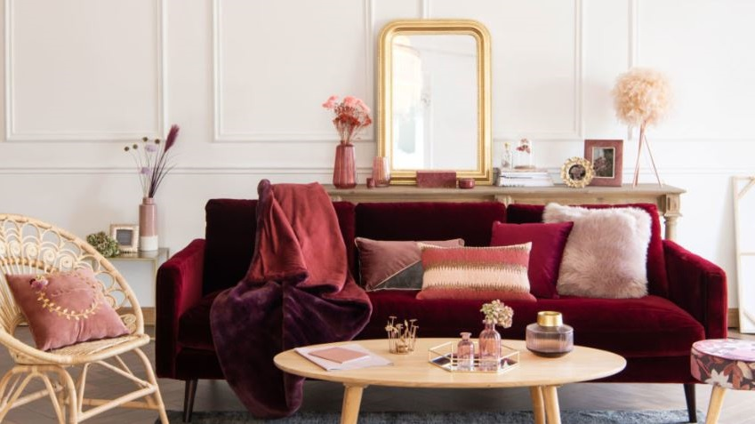 Harmonie Rose, Bordeaux Et Prune