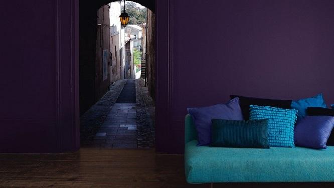 Harmonie Bleu Nuit, Turquoise Et Violet