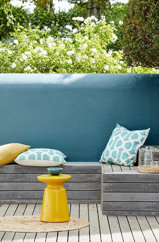 Jaune Moutarde Et Bleu Vert