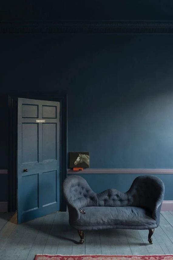 Bleu Nuit Et Lilas