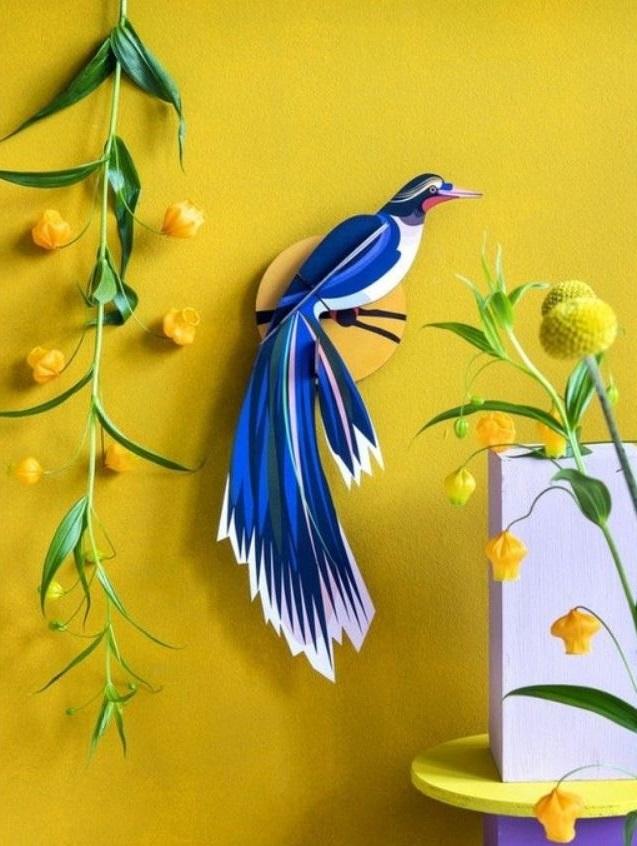 Bleu Majorelle Et Jaune Moutarde