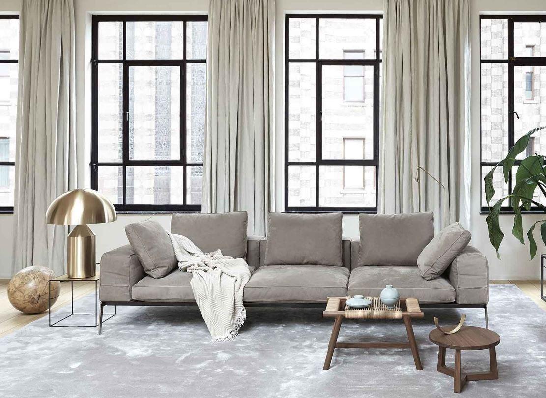 Salon Moderne Palette Taupe Et Laiton