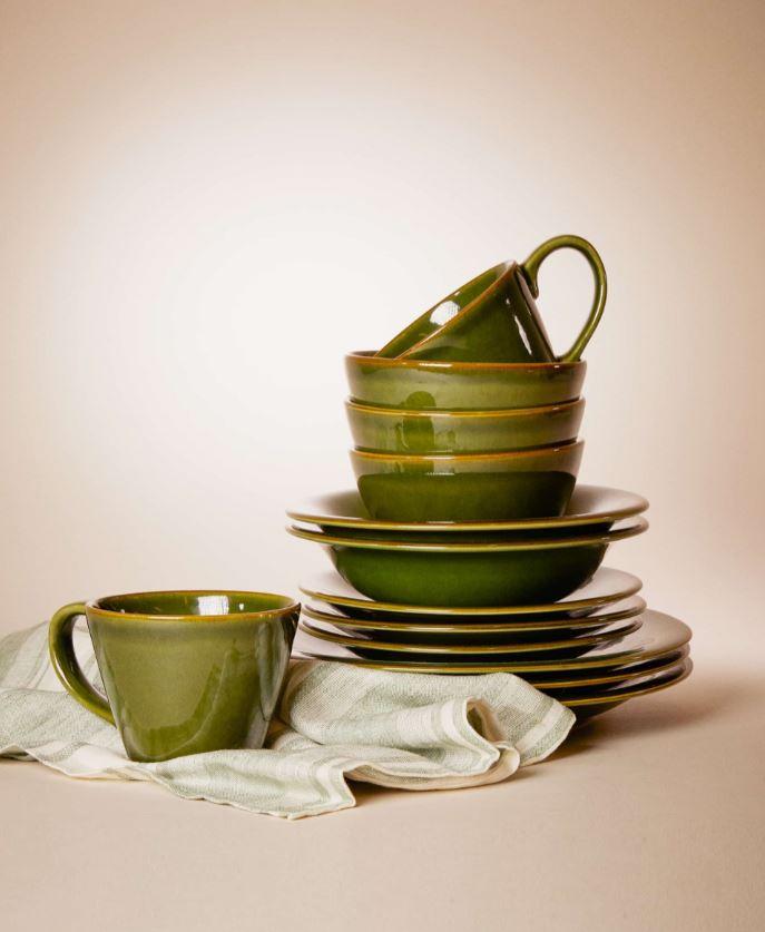 Vaisselle Vert Bouteille