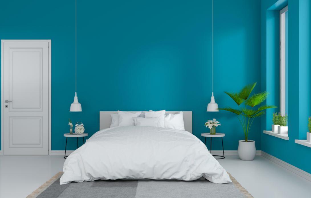 Chambre Bleu Ciel Et Blanc