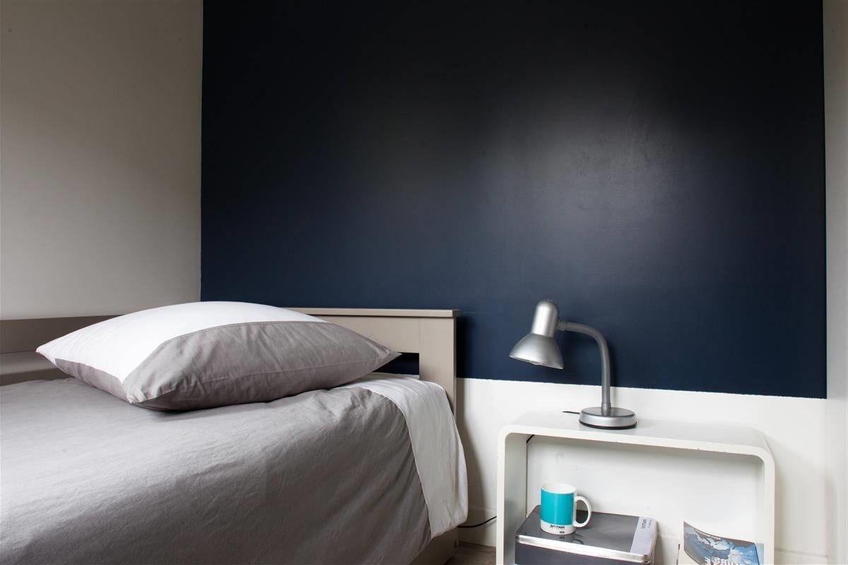 Chambre Bleu Nuit Et Taupe