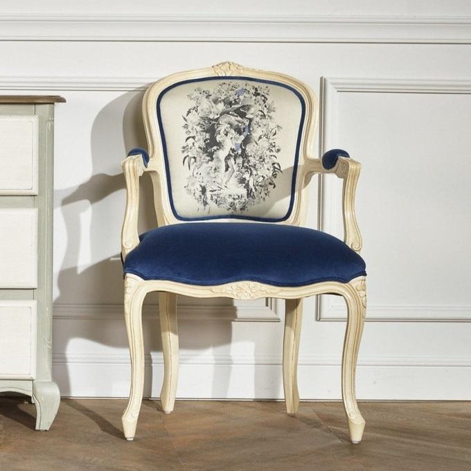 Fauteuil Cabriolet Bleu Indigo