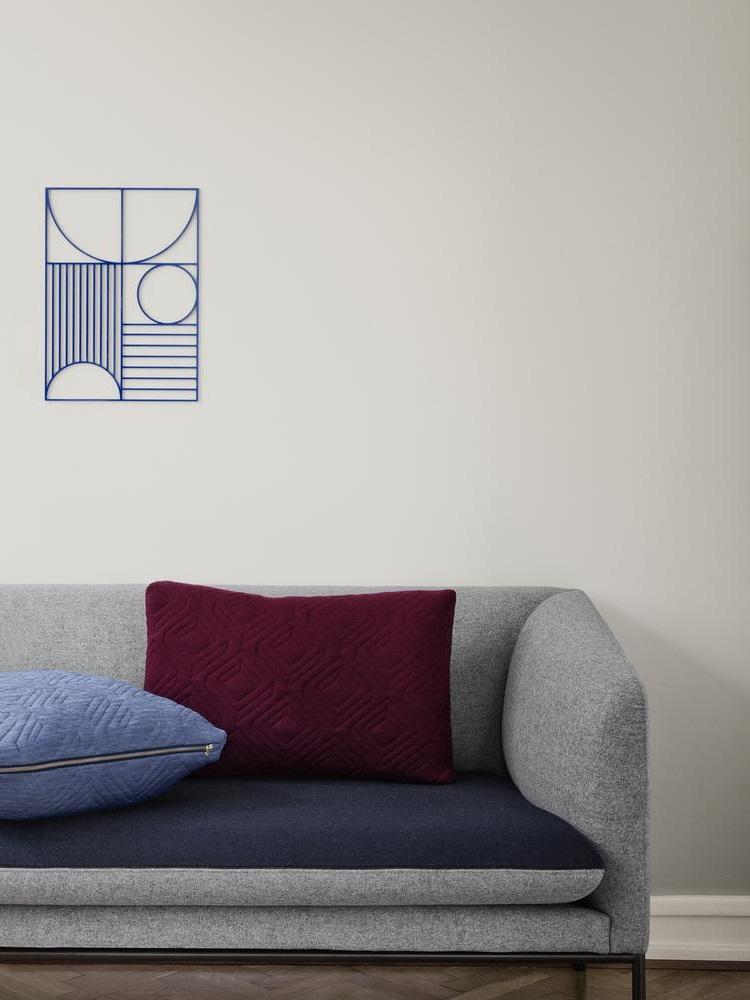Gris Souris, Bordeaux Et Bleu