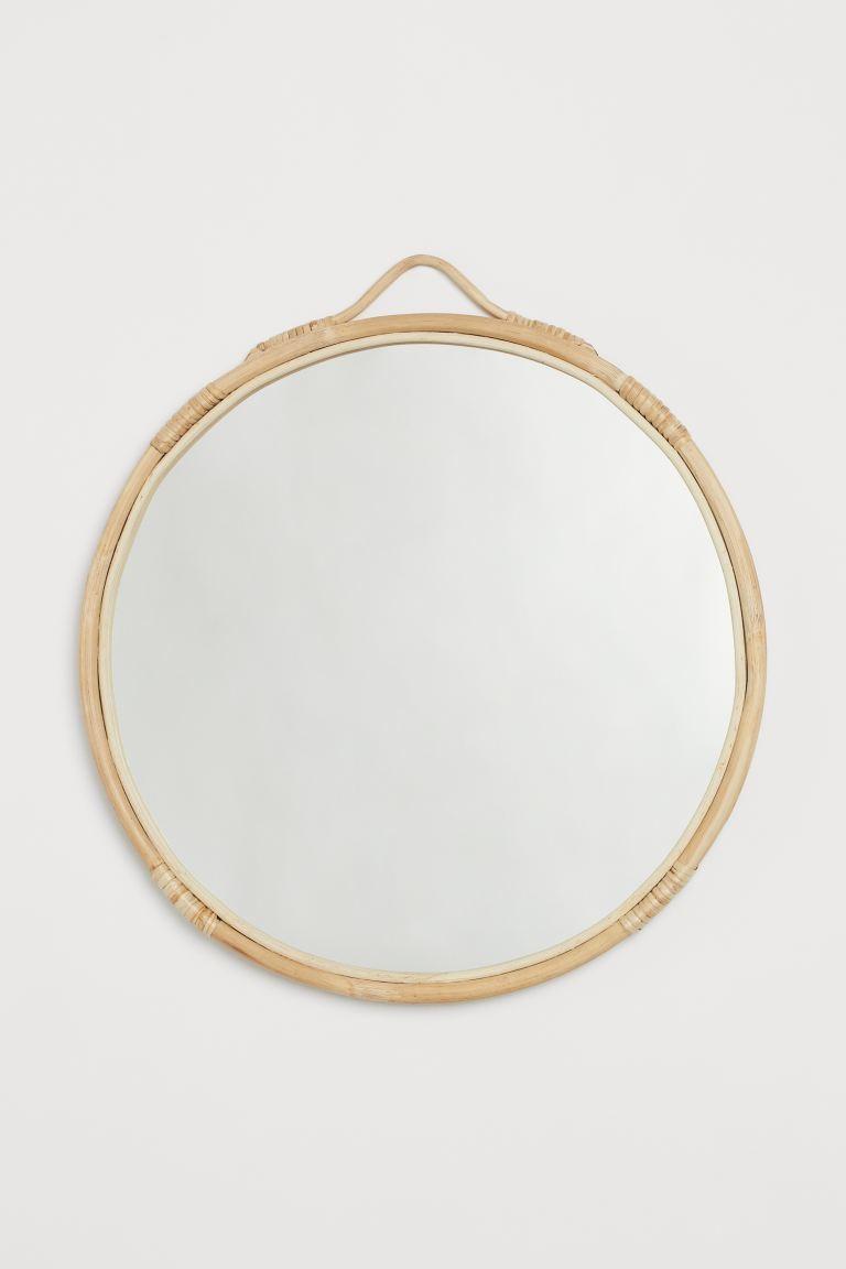 Miroir Rotin Minimaliste
