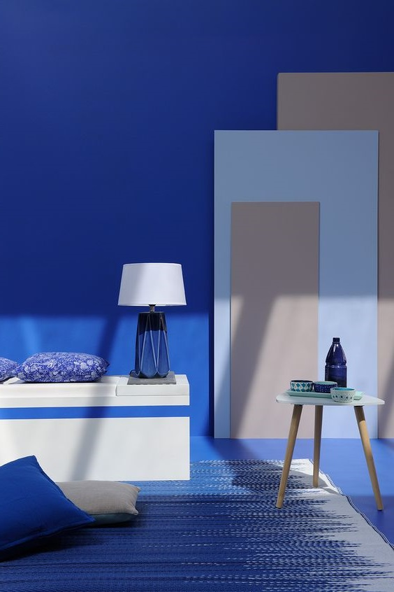 Bleu Marorelle Et Taupe