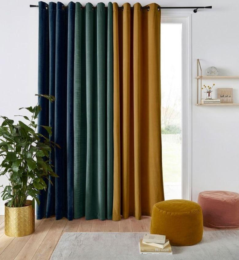 Nuancier Neo Art Deco Moutarde, Vert Canard Et Bleu Nuit