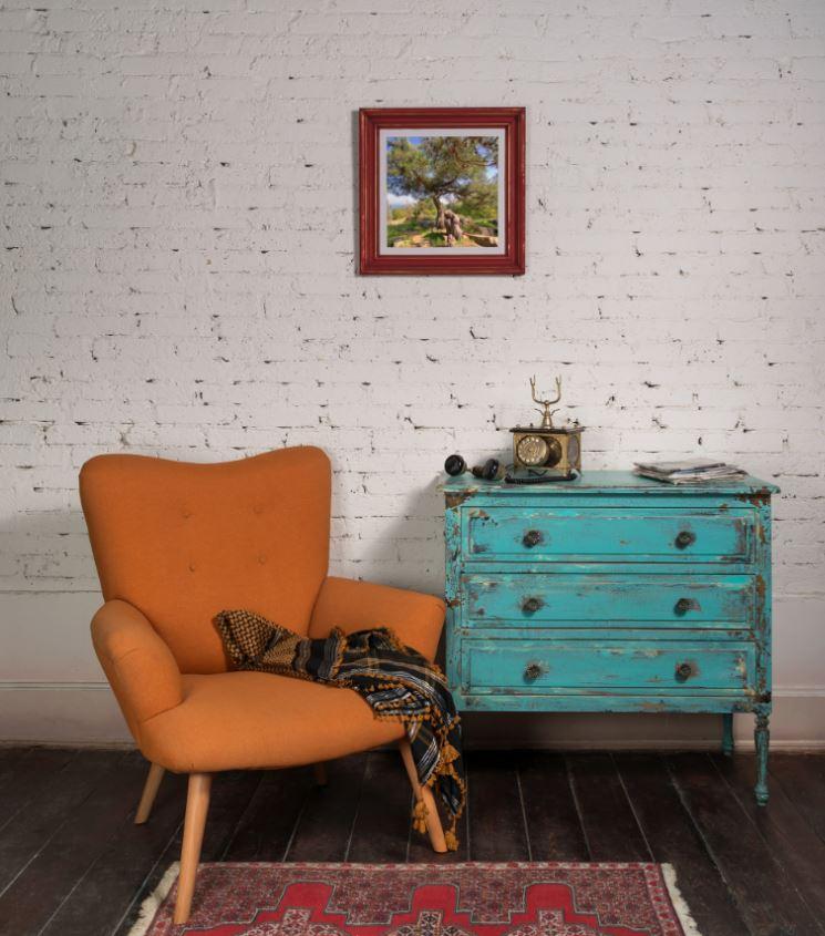 Décoration Bleu Ciel Et Orange