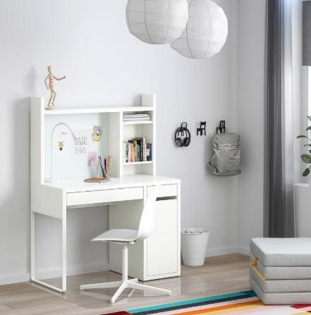 Bureau Blanc Avec Tableau Haut
