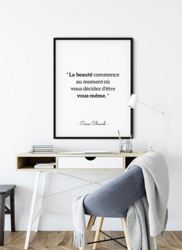 Cadre Citation En Noir Et Blanc
