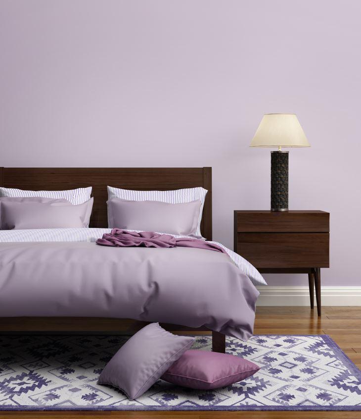 Chambre Lilas Douce Et Moderne