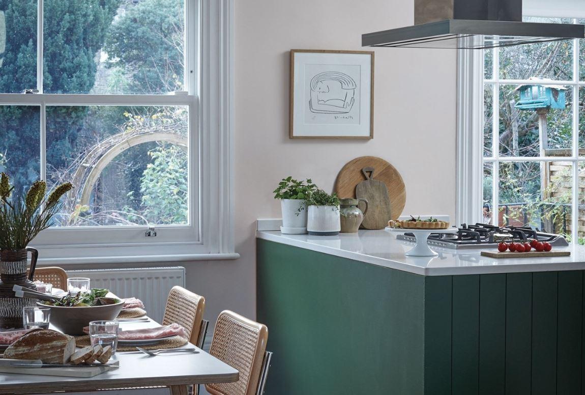Cuisine Lilas Et Verte Inspirée Des Intérieurs Scandinaves