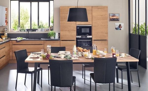 Cuisine Noire Et Bois Moderne