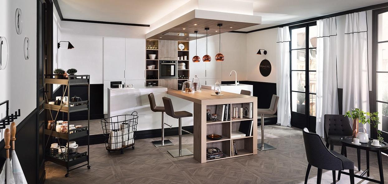 Cuisine Ouverte Au Coeur D'un Grand Appartement Moderne