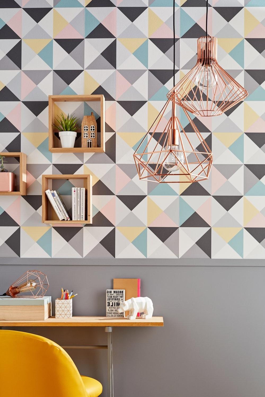 Papier Peint Avec Lignes Géométriques