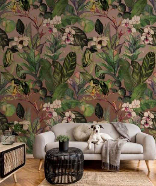 Papier Peint Panoramique Avec Fleurs