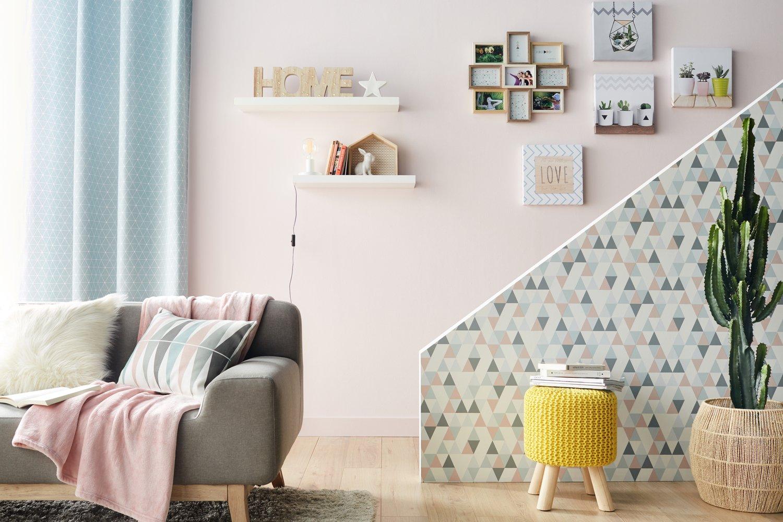 Papier Peint Scandinave Sur Murs Portant L'escalier