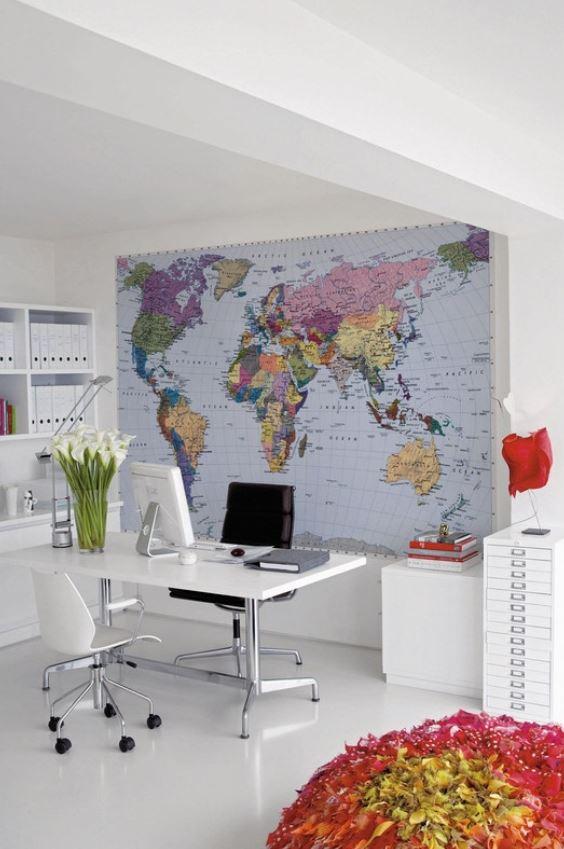 Photo Murale En Papier Peint Map Monde