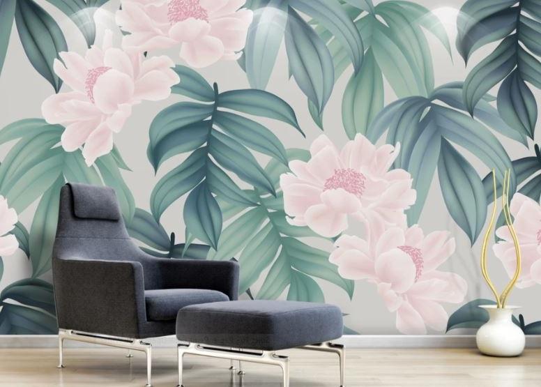 Revêtement Mural à Fleur